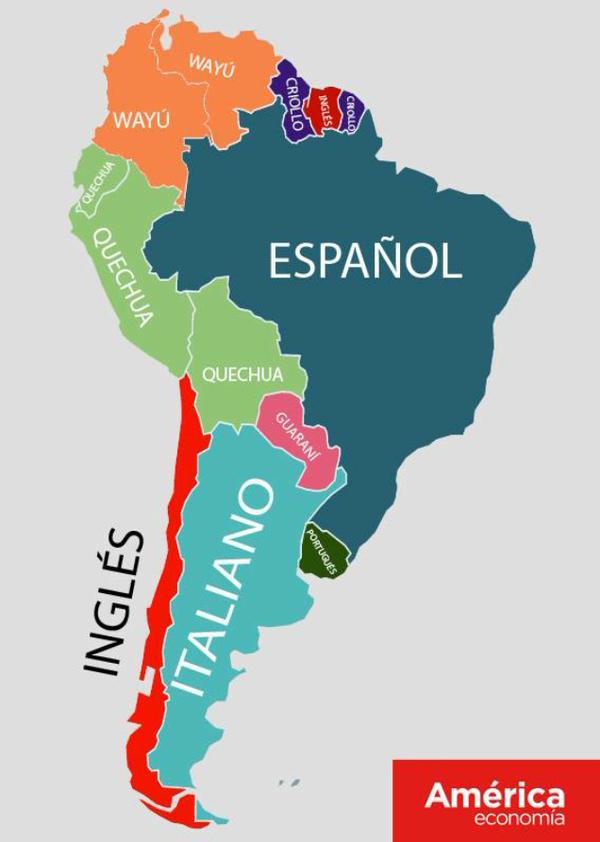 Segundos idiomas más hablados en sudarmerica