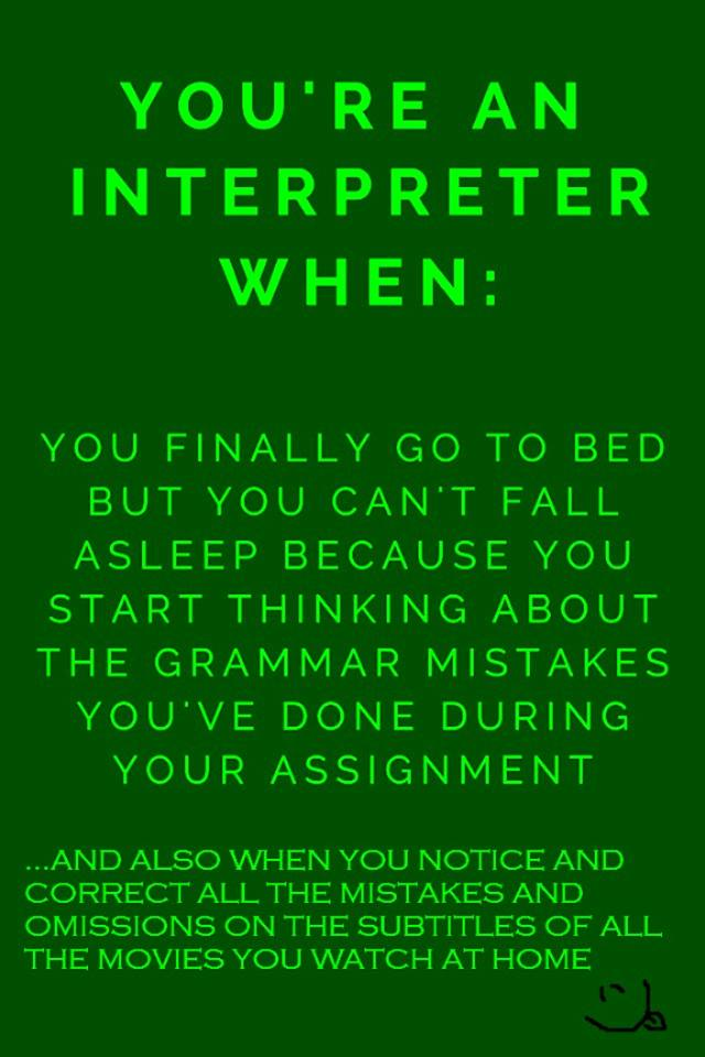 you are an interpreter when